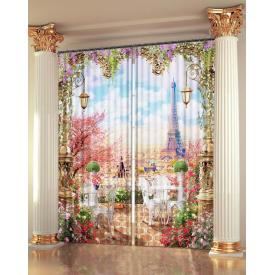 "Фото Шторы 3D-art ""Вид на Париж с балкона"""