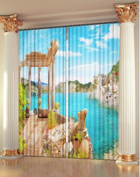 """Фото Шторы 3D-art """"Море античности"""""""