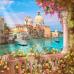 "Фото Шторы 3D-art ""Вид на Гранд канал в Венеции"""