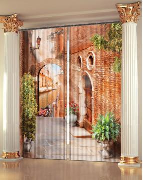 """Фото Шторы 3D-art """"Венецианская улочка"""""""