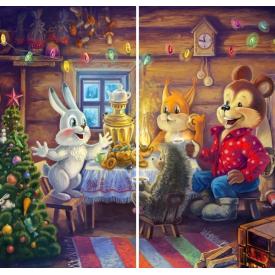 """Фотошторы """"Рождество. В гостях у зайки"""""""