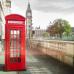 """ФотоШторы """"Лондон. Телефонная Будка"""""""