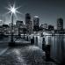 ФотоШторы Черно-белый  Бостон-Харбор
