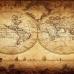 ФотоШторы Старинная карта мира