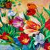 ФотоШторы Картина маслом  чаша свежих цветов.