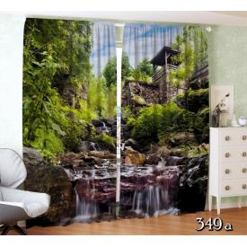 ФотоШторы Беседка с нежным водопадом