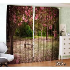 ФотоШторы Сад из цветущей сакуры