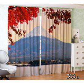 ФотоШторы Фудзи с цветами осени в Японии