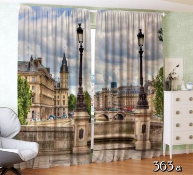 ФотоШторы  Парижский городской пейзаж.