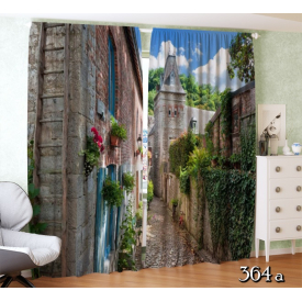 ФотоШторы  Улица в старом европейском городе