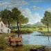 ФотоШторы Масляная живопись, красочный пейзаж