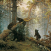 """Фотошторы """"Шишкин. Утро в сосновом лесу"""""""