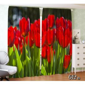"""Фотоштора """"Красные тюльпаны"""""""