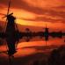 """Фотошторы """"Мельницы на фоне заката"""""""