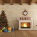 ФотоШторы Рождественская елка с камином
