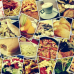 ФотоШторы Коллаж из фото с едой