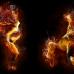 """Фотошторы """"Танцы в огне"""""""
