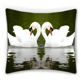 "ФотоПодушка ""Два лебедя"""