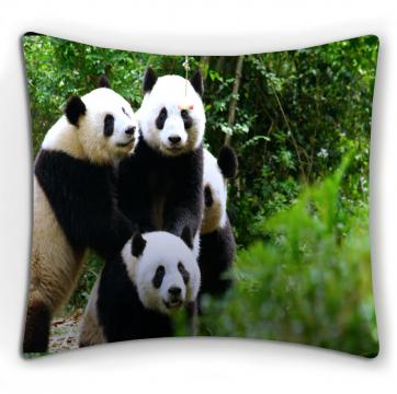 """ФотоПодушка """"Счастливые панды"""""""