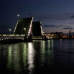 """Фотошторы """"Ночной Санкт-Петербург. Развод мостов"""""""