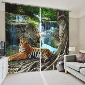 """Фотошторы """"Тигр у водопада"""""""