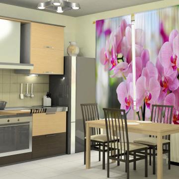 Фотошторы Розовые орхидеи 2