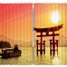 """Широкие фотошторы """"Ворота Японии"""""""