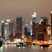 """Широкие фотошторы """"Нью-Йорк. Манхэттен в ночи"""""""