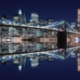"Широкие фотошторы ""Бруклинский мост и Манхеттен"""