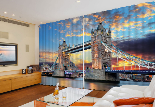 "Широкие ФотоШторы ""Лондон. Тауэрский Мост"""