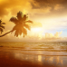 """Широкие ФотоШторы """"Пустынный Пляж"""""""